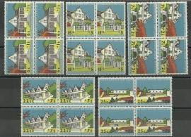 Nederlandse Antillen 298/302 in blokken van 4 Postfris