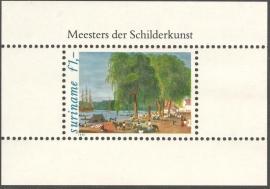 Suriname Republiek 273 Blok Schilderijen 1981 Postfris