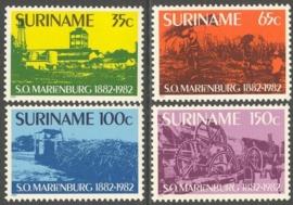 Suriname Republiek 308/311 100 Jaar Suikeronderneming 1982 Postfris
