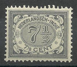 Nederlands Indië  47 P 7½ct Cijferzegel 1902/1909 Postfris