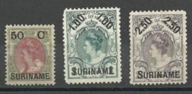 Suriname  34/36 1899 Hulpuitgifte Ongebruikt (2) + 34 PM