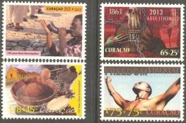 Curaçao Status Aparte 153/156 150 Jaar Afschaffing Slavernij 2013 Postfris