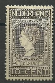 Nvph  93 10ct Jubileum 1913 Postfris