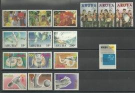 Complete Jaargang Aruba 1989 Postfris