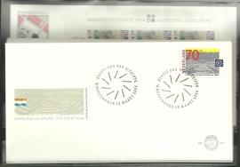 FDC Jaargang 1984 compleet onbeschreven met open klep E214/E223a