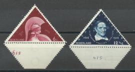 Nvph 287/288  met Etsingnummers Postfris (1)