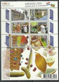 Nvph V2752/2757a Grenzeloos Nederland - Suriname Postfris