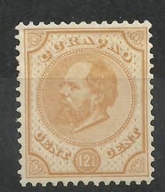 Curacao   5H 12½ × 12½  12½ ct Willem III Ongebruikt (1)