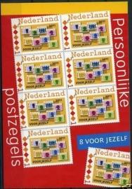 Postzegelboekje Postaumaat 8 voor Jezelf Postfris (rood)