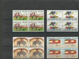 Nvph. 1103/1106 Kinderzegels 1976 in Blokken Postfris