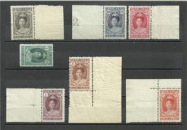 Nederlands Indië 160/166 Jubileumzegels Wilhelmina Postfris (1) + Certificaat
