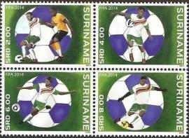 Suriname Republiek  2047/2050 Fifa 2014 Postfris