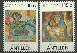 Nederlandse Antillen 1046/1047 Kerst 1993 Postfris