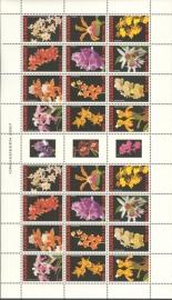 Suriname Republiek 1419/1430VBP Orchideeën 2007 Postfris (Compleet vel)
