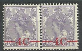 Plaatfout   59 PM11 als 106 in paar Postfris