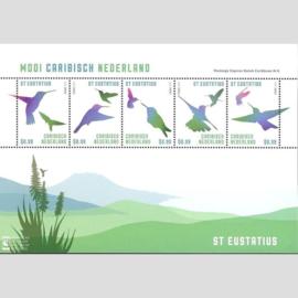 Caribisch Nederland  47 Blok Mooi St. Eustatius 2014 Postfris