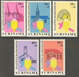Suriname Republiek 167/171 Paasweldadigheid 1979 Postfris