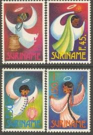Suriname Republiek  782/785 Kerstzegels 1993 Postfris