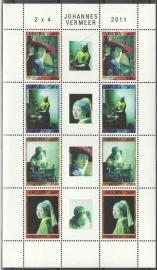Aruba V564/567 Johannes Vermeer 2011 Postfris (Compleet vel)