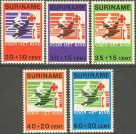 Suriname Republiek 186/190 Kinderzegels 1979 Postfris