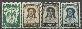 Suriname 183/186 Emancipatiezegels Ongebruikt