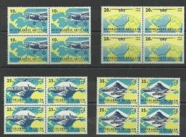 Nederlandse Antillen 307/310 in blokken van 4 Postfris