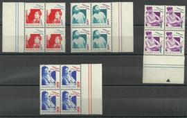 Nvph 240/243 Kinderzegels 1931 in blokken van 4 Postfris