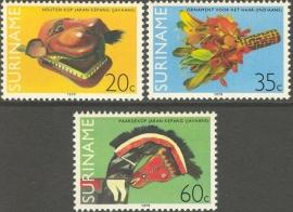 Suriname Republiek 180/182 Surinaamse Kunstvoorwerpen 1979 Postfris