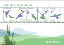 Caribisch Nederland  47 FXDC  Blok St. Eustatius (5 × US $ 0,99) 2014 Postfris