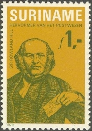 Suriname Republiek 185 100ste Sterfdag Sir Rowland Hill 1979 Postfris