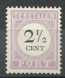 Suriname P  9 2½ct Type II Ongebruikt (1)