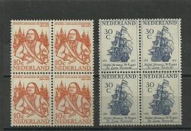 Nvph 693/694 De Ruyter in Blokken Postfris