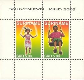 Suriname Republiek 1355 Blok Kinderzegels 2005 Postfris