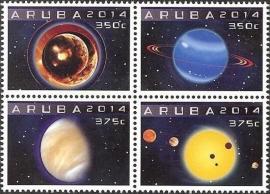 Aruba 766/769 Astronomie 2014 Postfris