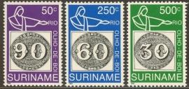 Suriname Republiek  776/778 Int. Postzegeltent. Brasiliana 1993 Postfris