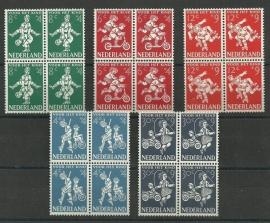 Nvph 715/719 Kinderzegels 1958 in Blokken Postfris