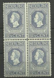 Nvph  94 12½ct Jubileum 1913 blok van 4 Postfris (2)