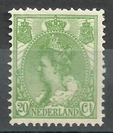 Nvph  68 20 ct  Koningin Wilhelmina Bontkraag Postfris + Certificaat (1)