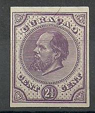 Curaçao   1g lila 2½ct Berlijnse Kleurproef Ongebruikt (1)