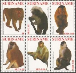 Suriname Republiek  1824/1829 Primaten 2011 Postfris (los)