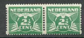 Roltanding 61 2½ct Tweezijdige Hoekroltanding in paar Postfris (1)