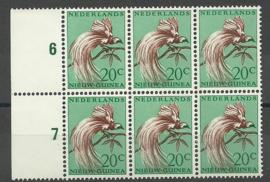 Nederlands Nieuw Guinea 29 PM in blok Postfris