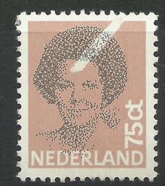 Nvph 1239 75 ct Beatrix Zwart met misdruk Postfris