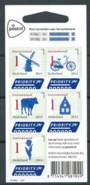 Nvph V3150/3154 Priorityzegels 2014 Postfris (W2W4W2W2, 4e editie)