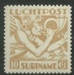 Suriname LP19 10 Gld Mecuriuskop, Indische druk Ongebruikt