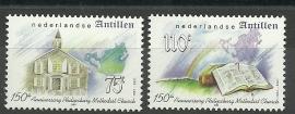 Nederlandse Antillen 1369/1370 Methodistenkerk Postfris