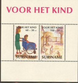 Suriname Republiek  720 Blok Kinderzegels 1991 Postfris