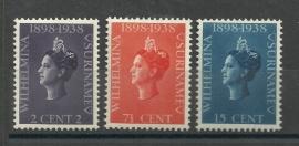 Suriname 187/189 Jubileumzegels  Postfris