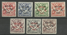 Suriname LP 8/14 Opdruk Vlucht Do.X. Postfris / Ongebruikt