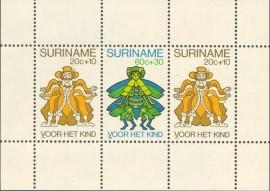 Suriname Republiek 229 Blok Kinderzegels 1980 Postfris
